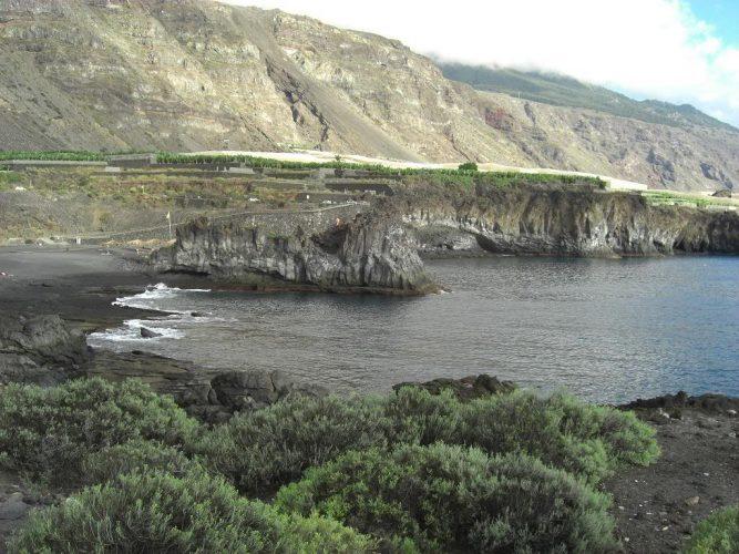 Playa de charco verde